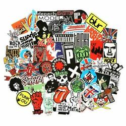 USA saler 100PCS Rock band sticker Rock and Roll Music Sticker Vinyl Waterproof $6.99