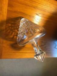 CRYSTAL SIDE DECANTER ** FACETED ** MUST SEE $90.00