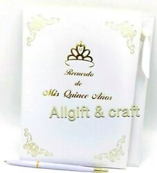 Mis Quince Anos Quinceanera Guest Book with Gold Design Decoration $16.99