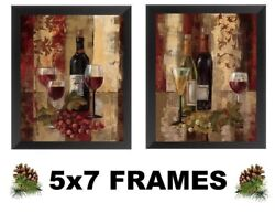 💗 5x7 Paris Wine Pictures Red Grapes Bottles Glasses Wall Hangings Kitchen $13.99