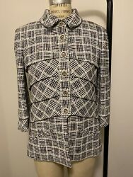 New With Tags Chanel Glitter Tweed Jacket P58692V44366 Size 42