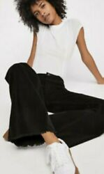 SALE New SOLD OUT Free People We The Free VINTAGE CORD FLARE 25 Black Corduroy $49.77