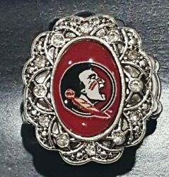 New Florida State University FSU Bling Antique Inspired stretch ring $9.01