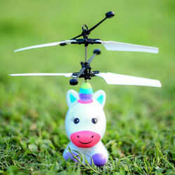 Flying Unicorn Infrared Induction LED Light Up RC Helicopter Kids Toy Gift $10.00