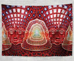 wall home hippie psychedelic trippy fractal hippie tapestry cloth poster $17.89