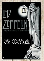 Led Zeppelin metal tin sign contemporary home decor $15.69