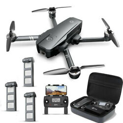 Holy Stone HS720 Brushless GPS drone 4K FHD camera FPV Foldable + case 3 battery $359.99