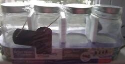 5 Piece Galvanized Serving Caddy with 4 Jars with Lids and Hang Tags