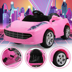 Kids Ride on Car Electric with Music Light Remote Control Pink Toys Gift 6V Pink $95.99