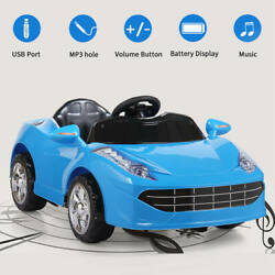Kids Ride On Car Electric 6V Battery Power Gift Toy MP3 W Remote Control Blue $106.99