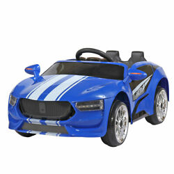 Electric Kids Ride on Car 6V Motor Toys Gift Cars W Remote Control Music Blue $117.99