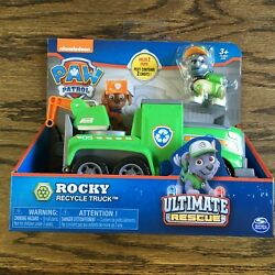 PAW Patrol Rocky Ultimate Rescue Recycling Truck with Moving Crane and Flip