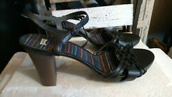 Camper womens black strappy heeled sandals size 11 NEW ankle strap