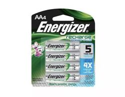 NEW 4pack AA Energizer Rechargeable NiMH Batteries AA4 Recharge 2300mAh