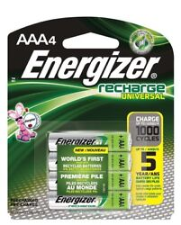 4pack AAA Energizer Rechargeable NiMH Batteries AAA4 Recharge 1.2V