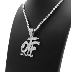 Only the Family OTF Pendant amp; Iced 16quot; 18quot; 20quot; Rhinestone Chain Fashion Necklace $13.29