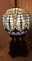 Tiffany Style Stained Glass Elephants Holding Air Balloon Lamp Stained Glass $599.99