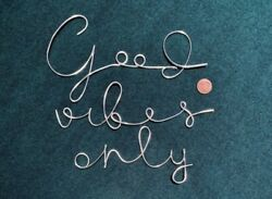 Custom Good Vibes Only Wire Word Wall Hanging Bedroom Decor Home Decor wire Art $25.00