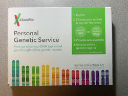 23andMe Personal Genetic Service Saliva Collection Kit (LAB FEE NOT INCLUDED)