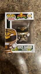 Funko Pop! TV Morphin Power Rangers White Ranger #405 Vaulted Rare New *IN HAND*