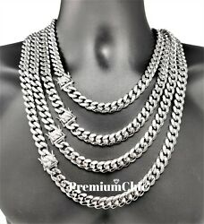 Mens Miami Cuban Link Chain SOLID Stainless Steel Necklace or Bracelet Jewelry $22.99