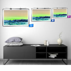 Wall Art Livingroom Decor Print Canvas Oil Painting Northern Lights In Iceland C $12.98