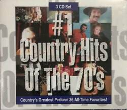#1 Country Hits of The 70's [3 CD set] - Audio CD - VERY GOOD $11.84