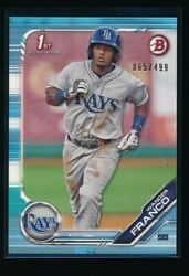 WANDER FRANCO 1st 2019 Bowman Paper SKY BLUE Parallel # 499 Rays Rookie Card RC $199.99