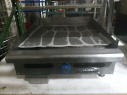 Used Imperial ITG 24 Commercial 24quot; Gas Thermostat Countertop Griddle