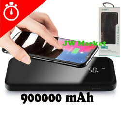 Power Bank 900000mAh Qi Wireless External Battery Charger Portable Fast Charging $19.59