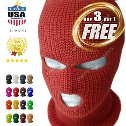 3 Hole Full Face Mask Ski Mask Winter Cap Balaclava Outdoor Beanie Tactical $7.95