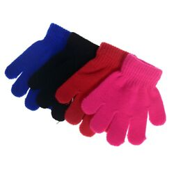 Toddler Boys Girls Warm Knitting Gloves Kids Mittens Winter Full Finger Gloves $1.99