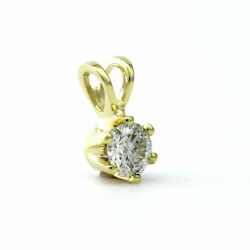 NECKLACE ROUND CUT DIAMOND COLORLESS VS1 1.6 CT 14 KT YELLOW GOLD SOLITAIRE