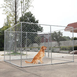 10x10ft Dog Fences Heavy Duty Outdoor Large Dog Kennel Cage Pet Pen Run House $265.99