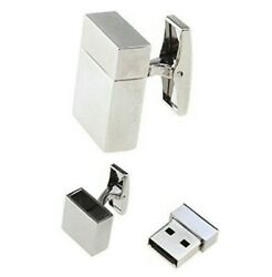 Silver USB 4GB Cufflinks Business Wedding Gift Formal for Suit Shirt Computer GBP 15.49