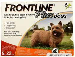 FRONTLINE Plus for Small Dogs 5 22 lbs. Orange Box 6 Month Supply EPA Approved $52.99