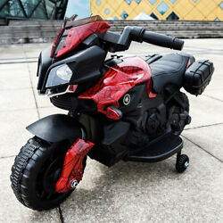 Red Kids Ride On Motorcycle 6V Battery Powered 4 Wheel Bicycle Electric Toy Red $65.99