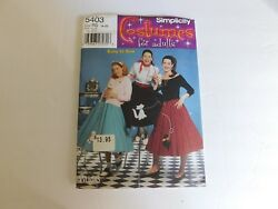 simplicity pattern 5403 sizes 14 22 ladies poodle skirts $7.00