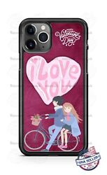 Happy Valentines Boy And Girl in Bicycle Phone Case For iPhone Samsung LG Google $15.94