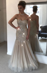 Sweet Beaded Tulle Mermaid Pageant prom Gown Sexy Party Celebrity Evening Dress