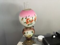 Antique Hurricane Gone With The Wind Lamp $130.00