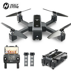 Holy Stone HS550 Brushless GPS RC Drone 2K Camera FPV Quadcopter + 2 Batteries $199.99