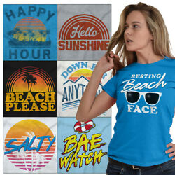 Ocean Tees Shirt Graphic Beach T Shirts For Ladies Womens Novelty Gifts Tshirts $7.99