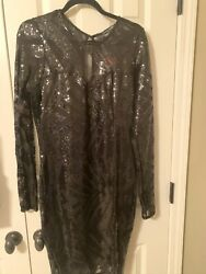 Curvy Sense Black Sequin Dress