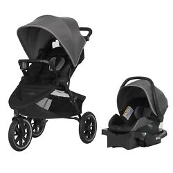 Baby Jogger Stroller with Infant Car Seat Evenflo Travel System Jog Crossover $299.99