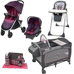 Evenflo Travel System Baby Suite Playard Stroller Car Seat High Chair Diaper Bag $269.99