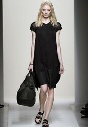 BOTTEGA VENETA springsummer 2011 runway black dress 40 NWoT $3800 mesh chain