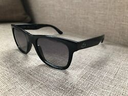 $175 New Lacoste Mens Foldable Sunglasses Black Frame Grey Lens w Pouch L778S $49.99