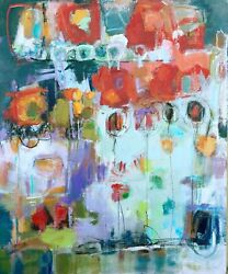 Abstract Wall Art Canvas Home Living Decor Floral Painting Elizabeth Chapman $450.00