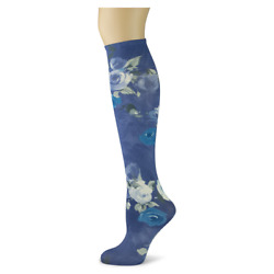 Yolanda Sox Trot Women#x27;s Thin Knee High Socks New No Heel Novelty Rose Fashion $9.95